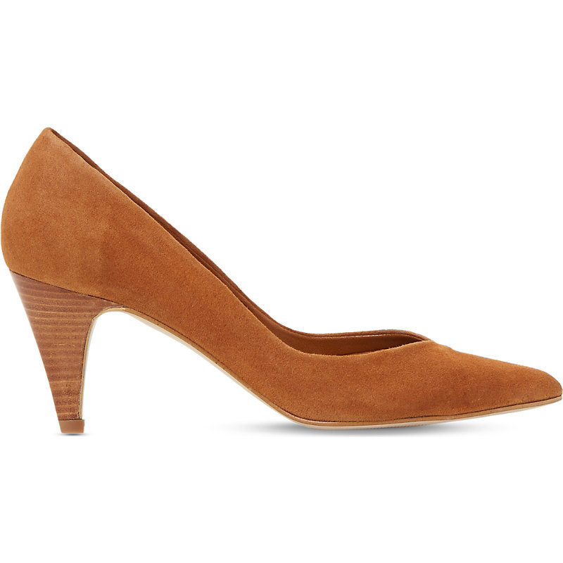 Adelaide Slip On Suede Courts, Women's, Eur 40 / 7 Uk Women, Tan Suede - predominant colour: tan; material: suede; heel height: mid; heel: cone; toe: pointed toe; style: courts; finish: plain; pattern: plain; occasions: creative work; season: s/s 2016; wardrobe: highlight