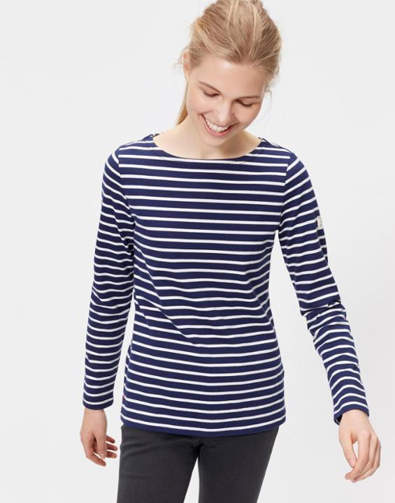 Hope Stripe French Navy Harbour Jersey Top Size 6 | Uk - pattern: horizontal stripes; secondary colour: white; predominant colour: navy; occasions: casual; length: standard; style: top; fibres: cotton - 100%; fit: body skimming; neckline: crew; sleeve length: long sleeve; sleeve style: standard; pattern type: fabric; texture group: jersey - stretchy/drapey; multicoloured: multicoloured; season: s/s 2016; wardrobe: basic