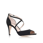 Kimi - predominant colour: black; occasions: evening; material: leather; heel height: high; heel: stiletto; toe: open toe/peeptoe; style: standard; finish: plain; pattern: plain; season: s/s 2016; wardrobe: event