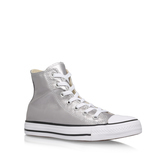 Ct Metallic Canvas Hi - predominant colour: silver; occasions: casual; material: fabric; heel height: flat; heel: standard; toe: round toe; boot length: ankle boot; style: high top; finish: plain; pattern: plain; season: s/s 2016; wardrobe: highlight