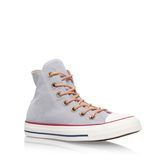 Ct Peached Canvas Hi - predominant colour: light grey; occasions: casual; material: fabric; heel height: flat; heel: standard; toe: round toe; boot length: ankle boot; style: high top; finish: plain; pattern: plain; shoe detail: moulded soul; season: s/s 2016; wardrobe: highlight