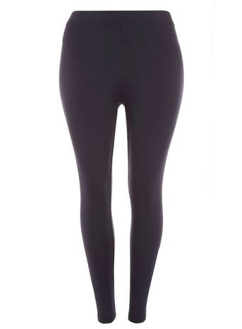Navy Ankle Length Leggings - pattern: plain; style: leggings; waist: mid/regular rise; predominant colour: navy; occasions: casual, creative work; length: ankle length; fibres: viscose/rayon - stretch; fit: skinny/tight leg; pattern type: fabric; texture group: jersey - stretchy/drapey; season: s/s 2016; wardrobe: basic