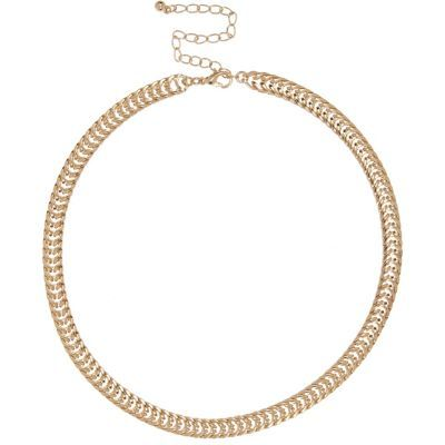 Womens Gold Tone Premium Chain Necklace - predominant colour: gold; occasions: casual; length: mid; size: standard; material: chain/metal; finish: metallic; season: s/s 2016; wardrobe: basic; style: chain (no pendant)