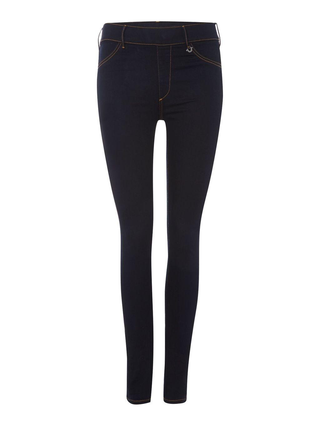 Runway Legging Jean In Body Rinse, Denim Rinse - style: skinny leg; length: standard; pattern: plain; pocket detail: traditional 5 pocket; waist: mid/regular rise; predominant colour: navy; occasions: casual; fibres: cotton - stretch; texture group: denim; pattern type: fabric; season: s/s 2016; wardrobe: basic