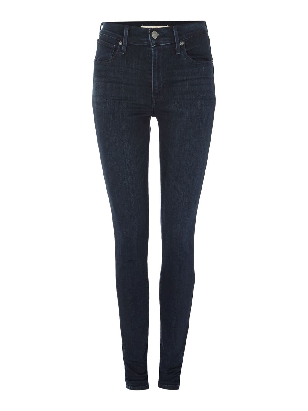Mile High Super Skinny In Daydreaming, Denim Mid Wash - style: skinny leg; length: standard; pattern: plain; pocket detail: traditional 5 pocket; waist: mid/regular rise; predominant colour: navy; occasions: casual; fibres: cotton - stretch; texture group: denim; pattern type: fabric; season: s/s 2016; wardrobe: basic