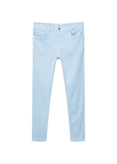 Skinny Peach Jeans - style: skinny leg; length: standard; pattern: plain; pocket detail: traditional 5 pocket; waist: mid/regular rise; predominant colour: pale blue; occasions: casual; fibres: cotton - stretch; texture group: denim; pattern type: fabric; season: s/s 2016; wardrobe: basic