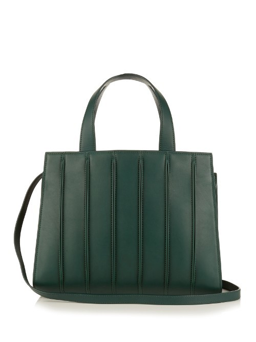 Whitney Medium Tote - predominant colour: dark green; occasions: casual, creative work; type of pattern: standard; style: tote; length: handle; size: standard; material: leather; pattern: plain; finish: plain; season: s/s 2016; wardrobe: highlight