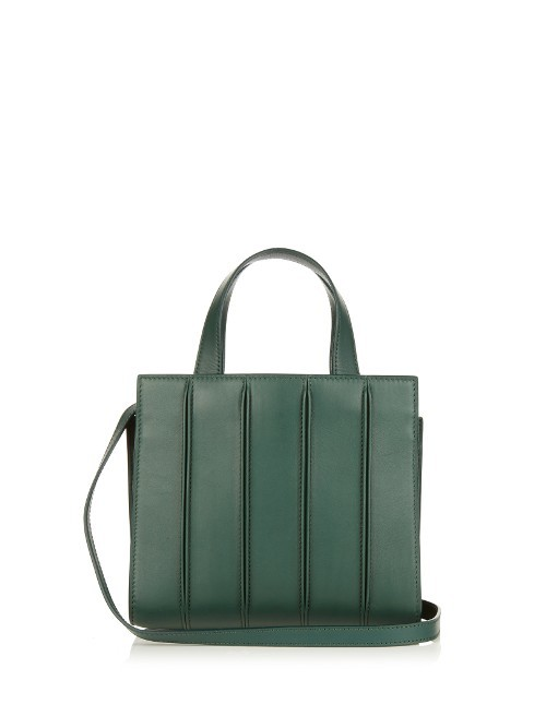 Whitney Small Tote - predominant colour: dark green; type of pattern: standard; style: tote; length: handle; size: standard; material: leather; pattern: plain; finish: plain; occasions: creative work; season: s/s 2016; wardrobe: highlight