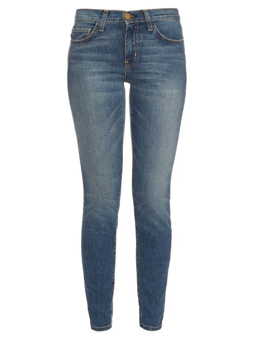 The Mamacita Mid Rise Straight Jeans - style: skinny leg; length: standard; pattern: plain; pocket detail: traditional 5 pocket; waist: mid/regular rise; predominant colour: denim; occasions: casual; fibres: cotton - stretch; jeans detail: whiskering, shading down centre of thigh; texture group: denim; pattern type: fabric; season: s/s 2016; wardrobe: basic