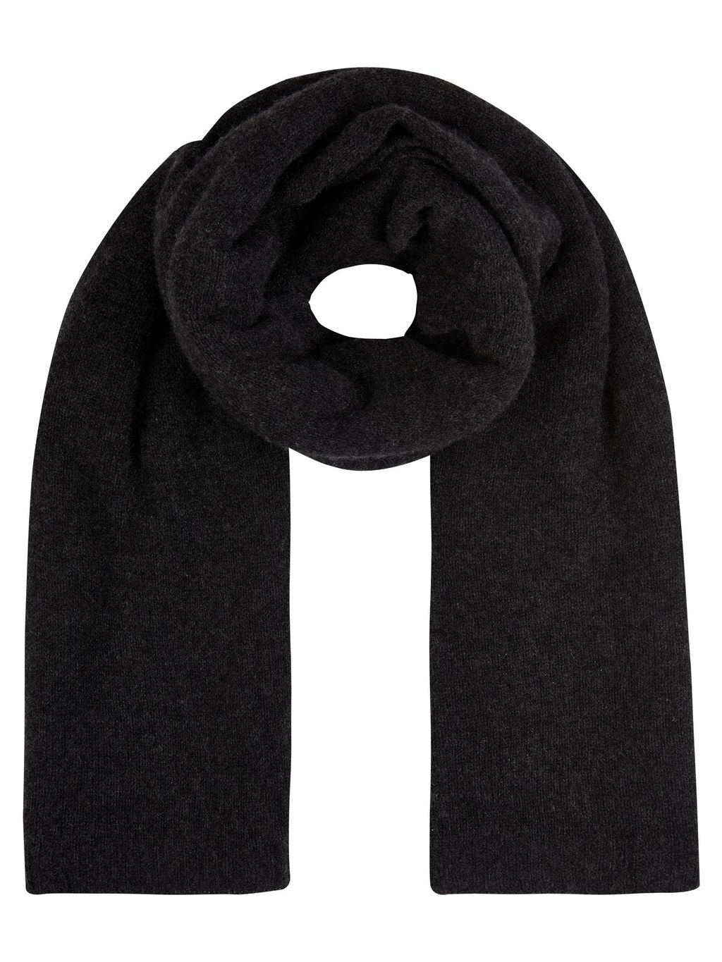 Winser Cashmere Wrap, Charcoal - predominant colour: black; occasions: casual; type of pattern: standard; style: regular; size: standard; pattern: plain; material: cashmere; season: s/s 2016; wardrobe: investment