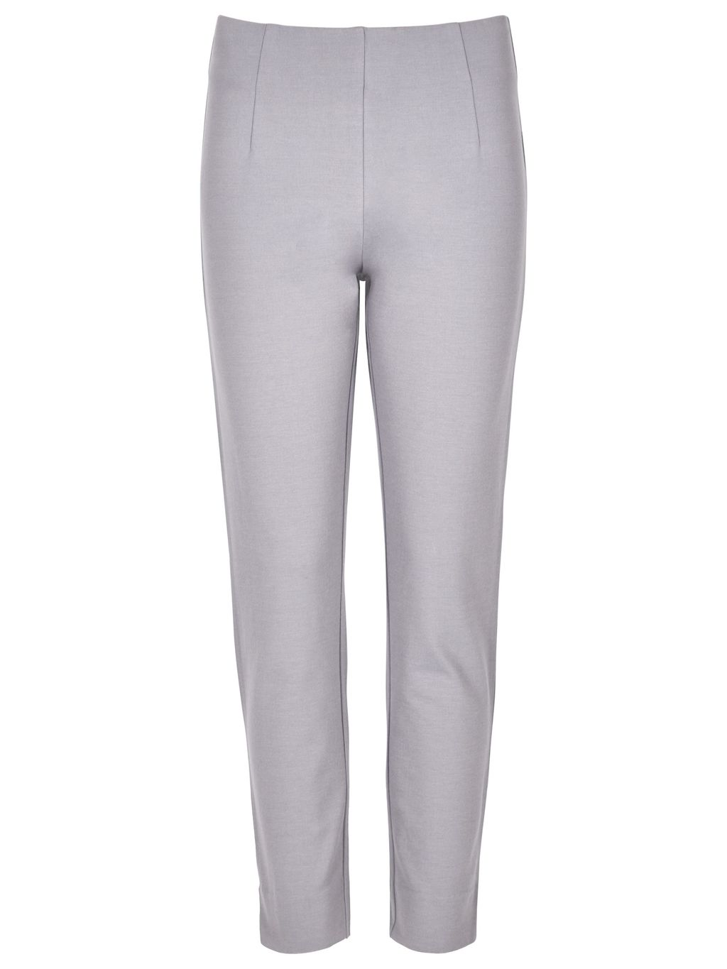 Miracle Capri Trouser, Grey - pattern: plain; style: capri; waist: mid/regular rise; predominant colour: mid grey; length: ankle length; fibres: cotton - 100%; texture group: cotton feel fabrics; fit: slim leg; pattern type: fabric; occasions: creative work; season: s/s 2016; wardrobe: basic