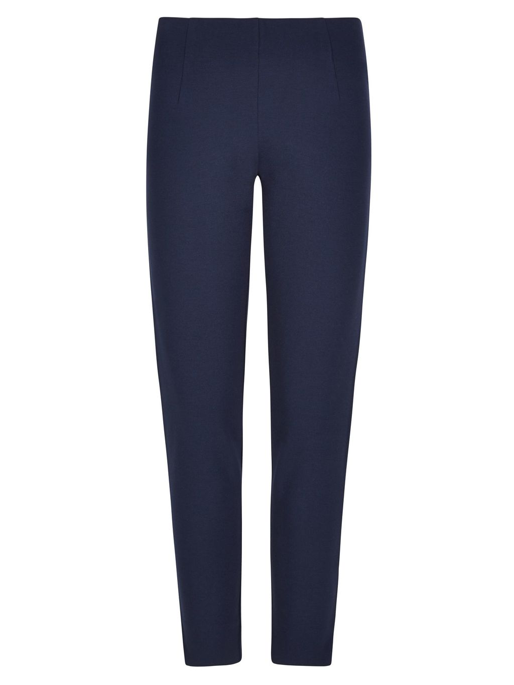 Miracle Capri Trouser, Navy - pattern: plain; style: capri; waist: mid/regular rise; predominant colour: navy; occasions: casual, creative work; length: ankle length; fibres: cotton - 100%; texture group: cotton feel fabrics; fit: slim leg; pattern type: fabric; season: s/s 2016; wardrobe: basic