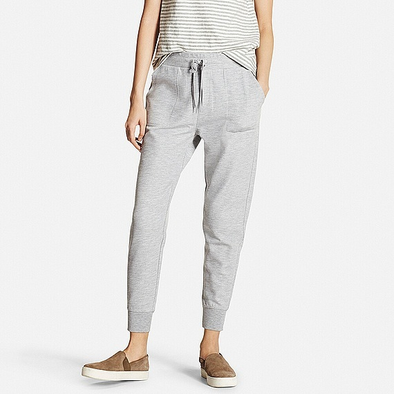 Women Milano Rib Cut And Sewn Jogger Pants (5 Colours) Gray - pattern: plain; style: tracksuit pants; waist detail: belted waist/tie at waist/drawstring; waist: mid/regular rise; predominant colour: mid grey; occasions: casual; length: ankle length; fibres: cotton - stretch; fit: tapered; pattern type: fabric; texture group: jersey - stretchy/drapey; season: s/s 2016; wardrobe: basic