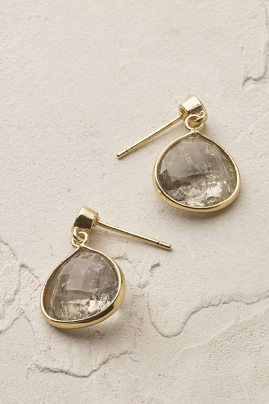 Florence Earrings - predominant colour: gold; occasions: evening, occasion; style: drop; length: short; size: standard; material: chain/metal; fastening: pierced; finish: plain; embellishment: jewels/stone; season: s/s 2016; wardrobe: event
