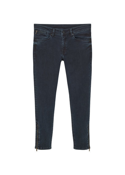 Skinny Crop Tattoo Jeans - style: skinny leg; length: standard; pattern: plain; pocket detail: traditional 5 pocket; waist: mid/regular rise; predominant colour: navy; occasions: casual; fibres: cotton - stretch; jeans detail: dark wash; texture group: denim; pattern type: fabric; season: s/s 2016; wardrobe: basic