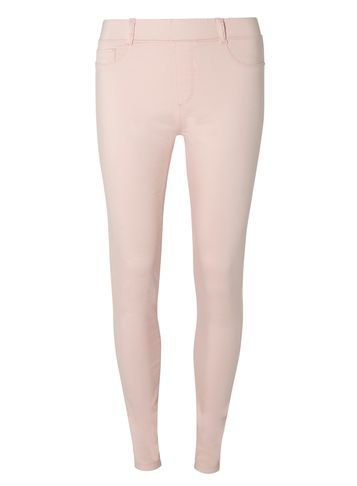 Womens **Tall Pink 'eden Capri' Ultra Soft Jeggings Pink - length: standard; pattern: plain; style: leggings; waist: mid/regular rise; predominant colour: blush; occasions: casual, creative work; fibres: cotton - stretch; texture group: jersey - clingy; fit: skinny/tight leg; pattern type: fabric; season: s/s 2016; wardrobe: basic
