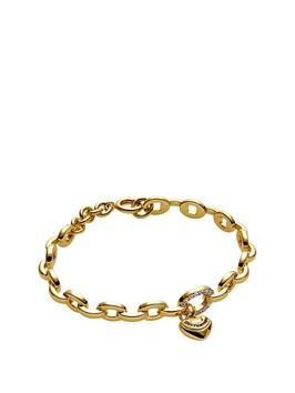 Pave Juicy Chain Bangle - predominant colour: gold; occasions: casual, creative work; style: chain; size: standard; material: chain/metal; finish: metallic; season: s/s 2016; wardrobe: basic