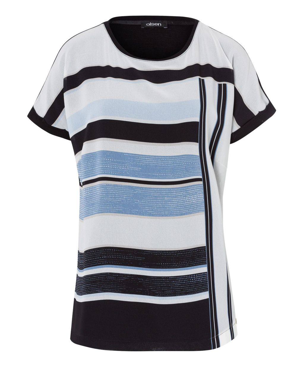 Stripe Top, Light Blue - pattern: striped; style: t-shirt; secondary colour: white; predominant colour: pale blue; occasions: casual; length: standard; fibres: cotton - stretch; fit: straight cut; neckline: crew; sleeve length: short sleeve; sleeve style: standard; pattern type: fabric; pattern size: standard; texture group: jersey - stretchy/drapey; multicoloured: multicoloured; season: s/s 2016; wardrobe: highlight