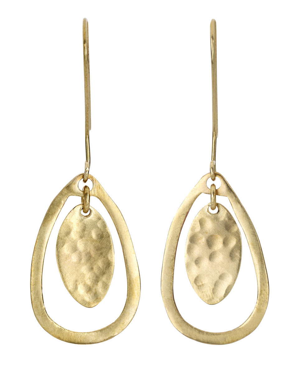 Made Cut Out Tear Earrings - predominant colour: gold; occasions: evening, occasion; style: drop; length: long; size: large/oversized; material: chain/metal; fastening: pierced; finish: metallic; season: s/s 2016; wardrobe: event