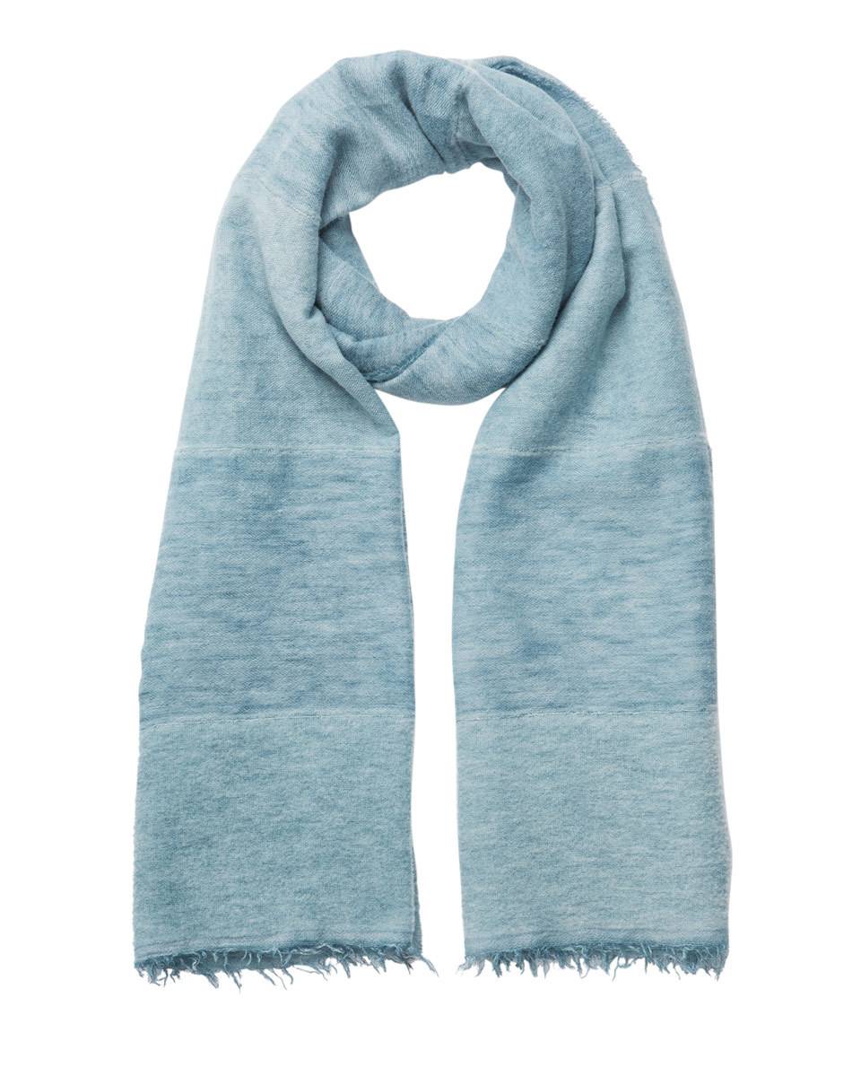 Panel Scarf - predominant colour: denim; occasions: casual; type of pattern: standard; style: regular; size: standard; material: fabric; pattern: plain; season: s/s 2016; wardrobe: highlight