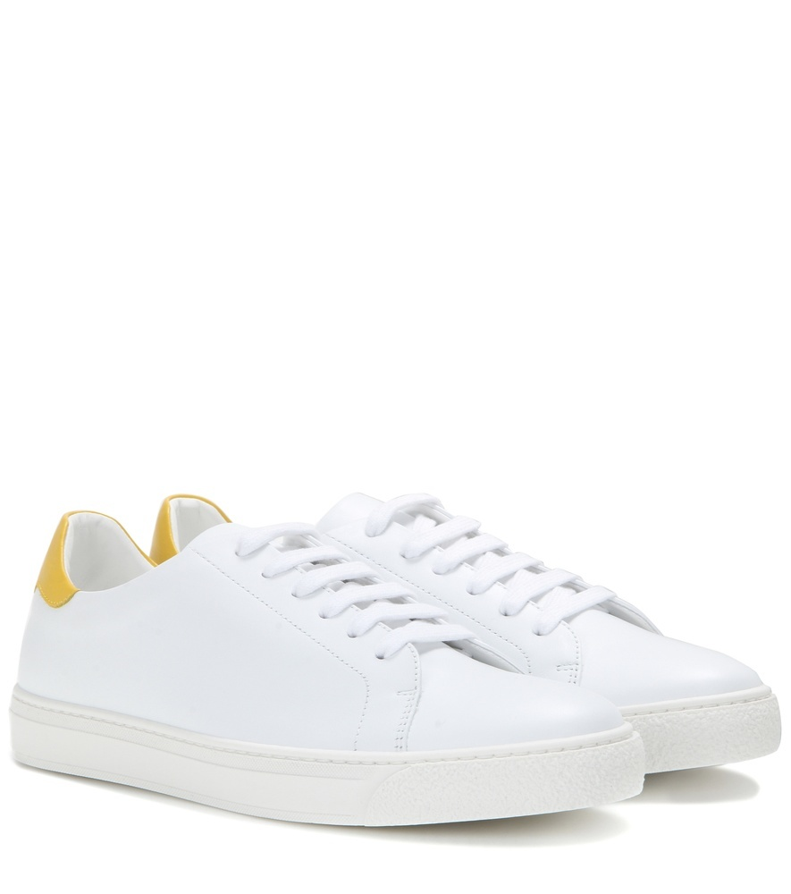 Wink Leather Sneakers - predominant colour: white; occasions: casual; material: leather; heel height: flat; toe: round toe; style: trainers; finish: plain; pattern: plain; shoe detail: moulded soul; season: s/s 2016; wardrobe: highlight