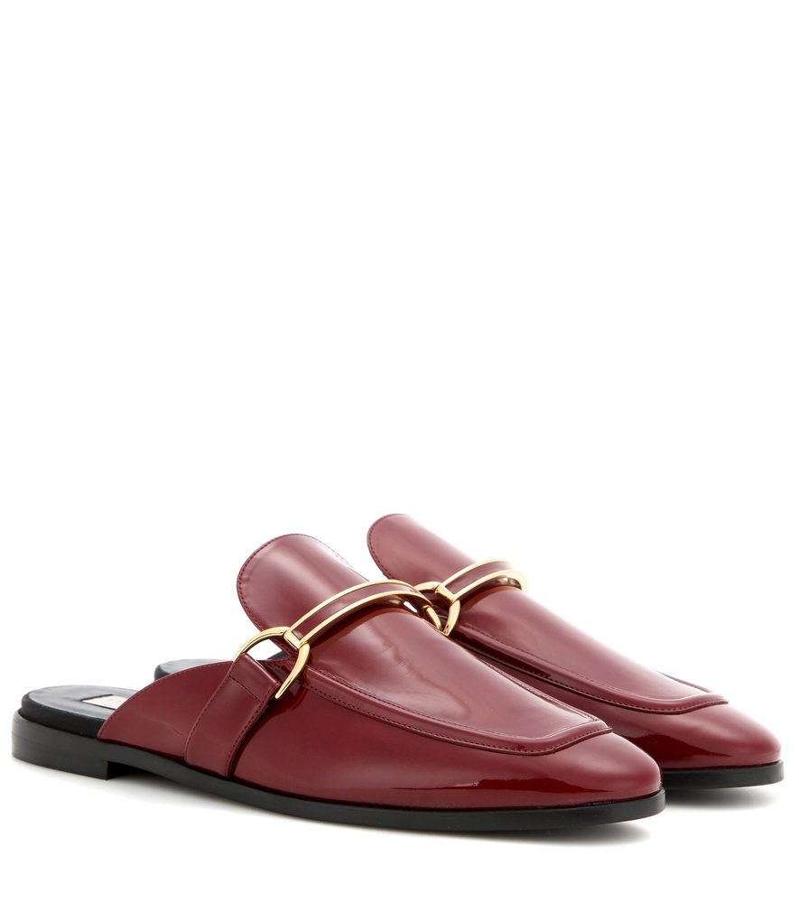 Morgana Slipper - predominant colour: burgundy; occasions: casual; material: leather; heel height: flat; toe: round toe; style: loafers; finish: plain; pattern: plain; season: s/s 2016; wardrobe: highlight