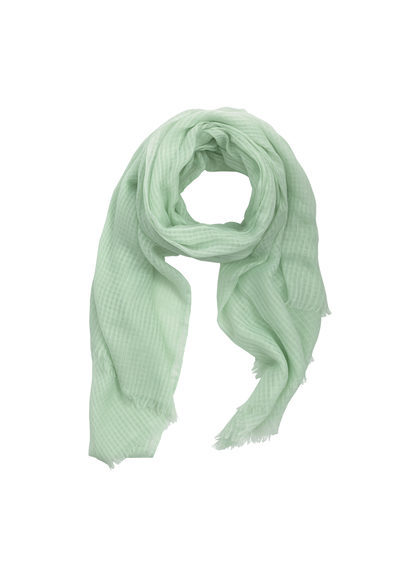 Openwork Scarf - predominant colour: pistachio; occasions: casual, creative work; type of pattern: standard; style: regular; size: standard; material: fabric; pattern: plain; season: s/s 2016; wardrobe: highlight