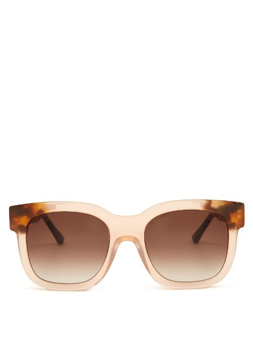 Flavoury Acetate Sunglasses - predominant colour: nude; occasions: casual, holiday; style: square; size: large; material: plastic/rubber; pattern: plain; finish: plain; season: s/s 2016; wardrobe: basic