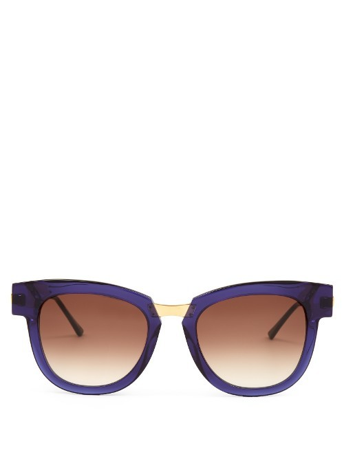 Mondanity Cat Eye Sunglasses - predominant colour: purple; secondary colour: gold; occasions: casual, holiday; style: cateye; size: large; material: plastic/rubber; finish: plain; pattern: colourblock; season: s/s 2016; wardrobe: highlight
