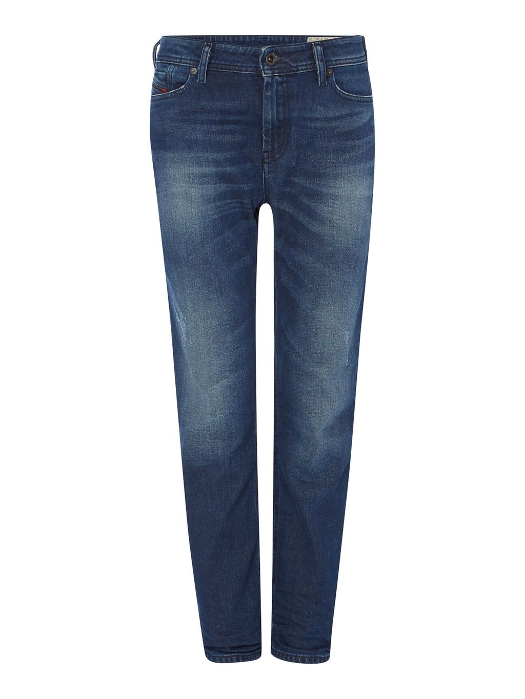 Reen 0853 U Regular Straight Jeans Leg 30, Blue - style: straight leg; length: standard; pattern: plain; pocket detail: traditional 5 pocket; waist: mid/regular rise; predominant colour: navy; occasions: casual; fibres: cotton - stretch; jeans detail: whiskering; texture group: denim; pattern type: fabric; season: s/s 2016; wardrobe: basic