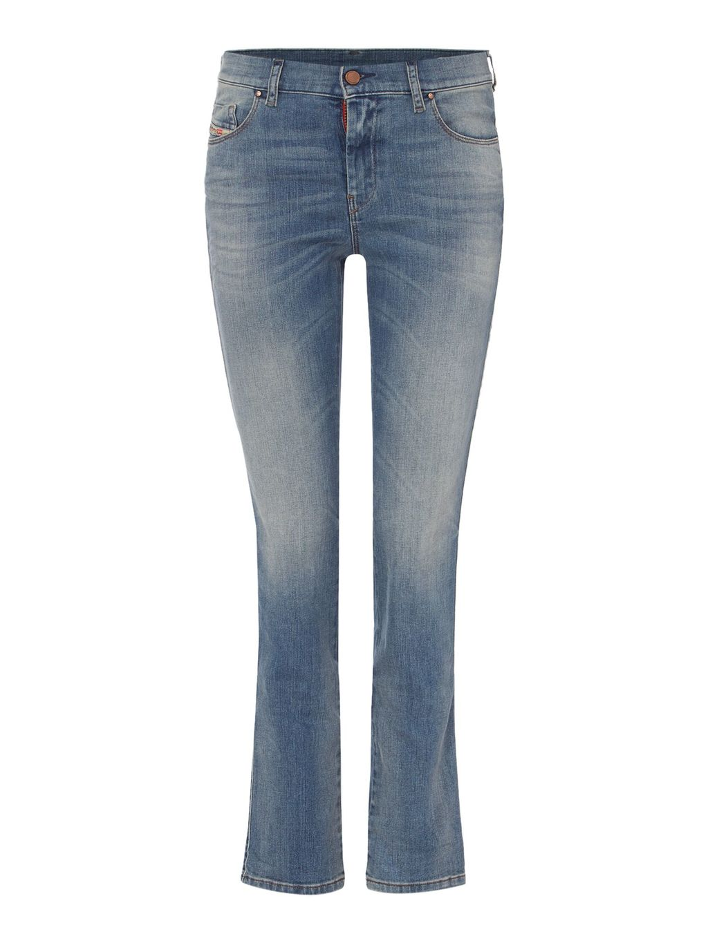 Sandy 0675 D Straight Jeans Leg 30, Blue - style: straight leg; length: standard; pattern: plain; pocket detail: traditional 5 pocket; waist: mid/regular rise; predominant colour: denim; occasions: casual; fibres: cotton - stretch; jeans detail: shading down centre of thigh; texture group: denim; pattern type: fabric; season: s/s 2016; wardrobe: basic