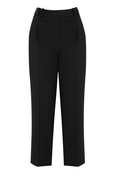 Mensy Trousers - pattern: plain; waist: high rise; predominant colour: black; occasions: work; length: ankle length; fibres: polyester/polyamide - 100%; texture group: crepes; fit: tapered; pattern type: fabric; style: standard; season: s/s 2016; wardrobe: basic