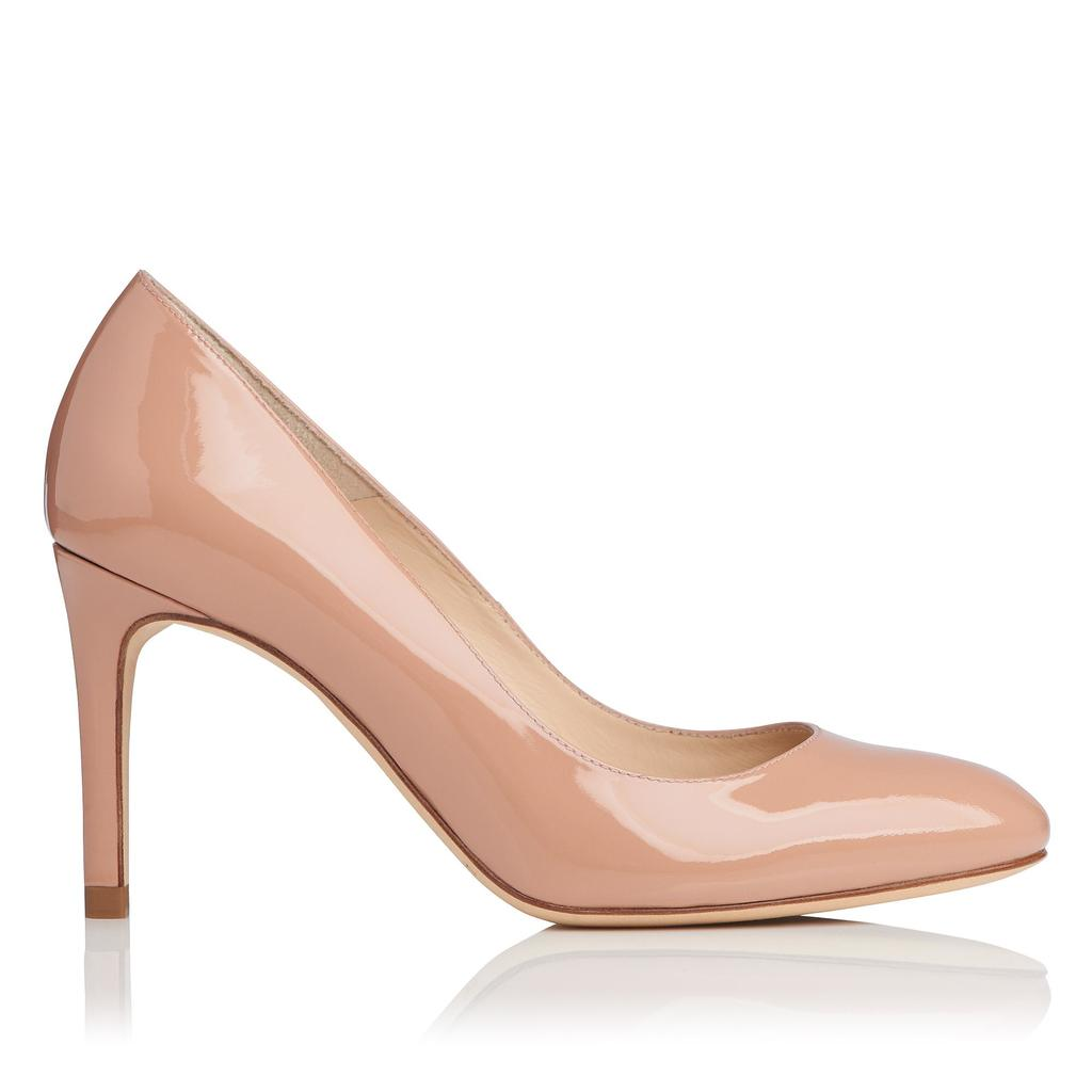 Sasha Fawn Patent Courts Neutral Fawn - predominant colour: nude; occasions: evening; material: leather; heel height: high; heel: stiletto; toe: pointed toe; style: courts; finish: patent; pattern: plain; season: s/s 2016; wardrobe: event