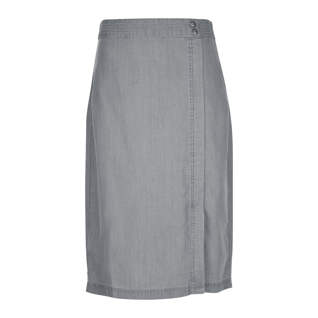 Multi Stitch Tencel Wrap Pencil Skirt - pattern: plain; style: pencil; fit: tailored/fitted; waist: mid/regular rise; predominant colour: mid grey; occasions: casual; length: just above the knee; fibres: viscose/rayon - 100%; pattern type: fabric; texture group: woven light midweight; season: s/s 2016; wardrobe: basic