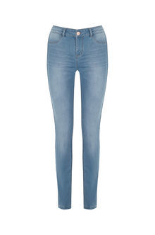 Classic Skinny Jeans - style: skinny leg; length: standard; pattern: plain; pocket detail: traditional 5 pocket; waist: mid/regular rise; predominant colour: denim; occasions: casual; fibres: cotton - stretch; jeans detail: whiskering, shading down centre of thigh; texture group: denim; pattern type: fabric; season: s/s 2016; wardrobe: basic