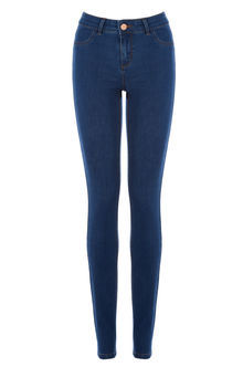 Jade Stretch Skinny Jeans - style: skinny leg; length: standard; pattern: plain; pocket detail: traditional 5 pocket; waist: mid/regular rise; predominant colour: navy; occasions: casual; fibres: cotton - stretch; texture group: denim; pattern type: fabric; season: s/s 2016; wardrobe: basic
