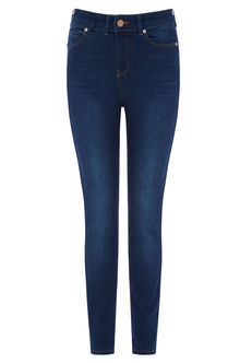 Lily Ankle Grazer Jeans - style: skinny leg; length: standard; pattern: plain; pocket detail: traditional 5 pocket; waist: mid/regular rise; predominant colour: navy; occasions: casual; fibres: cotton - stretch; texture group: denim; pattern type: fabric; season: s/s 2016; wardrobe: basic