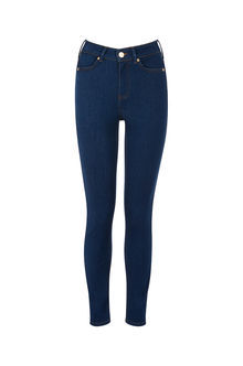 Stiletto Skinny Jeans - style: skinny leg; pattern: plain; pocket detail: traditional 5 pocket; waist: mid/regular rise; predominant colour: navy; occasions: casual; length: ankle length; fibres: cotton - stretch; texture group: denim; pattern type: fabric; season: s/s 2016; wardrobe: basic