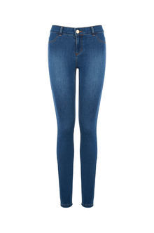 Jade Skinny Jeans - style: skinny leg; pattern: plain; waist: high rise; predominant colour: denim; occasions: casual; length: ankle length; fibres: cotton - stretch; texture group: denim; pattern type: fabric; season: s/s 2016; wardrobe: basic