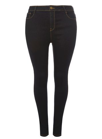 Womens Dp Curve Plus Size Indigo Authentic Skinny Jeans Indigo - style: skinny leg; length: standard; pattern: plain; pocket detail: traditional 5 pocket; waist: mid/regular rise; predominant colour: navy; occasions: casual; fibres: cotton - stretch; jeans detail: dark wash; texture group: cotton feel fabrics; pattern type: fabric; season: s/s 2016; wardrobe: highlight