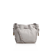 Nisha Crossbody - predominant colour: light grey; occasions: casual, creative work; type of pattern: standard; style: shoulder; length: shoulder (tucks under arm); size: standard; material: leather; pattern: plain; finish: plain; season: s/s 2016; wardrobe: investment