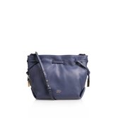 Nisha Crossbody - predominant colour: navy; occasions: casual, creative work; type of pattern: standard; style: shoulder; length: shoulder (tucks under arm); size: standard; material: leather; pattern: plain; finish: plain; season: s/s 2016; wardrobe: investment