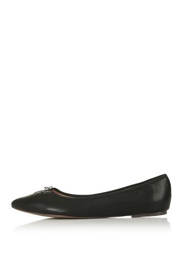 Vertigo Ballet Pump - predominant colour: black; occasions: casual, creative work; material: faux leather; heel height: flat; toe: pointed toe; style: ballerinas / pumps; finish: plain; pattern: plain; trends: glossy girl; season: s/s 2016; wardrobe: basic