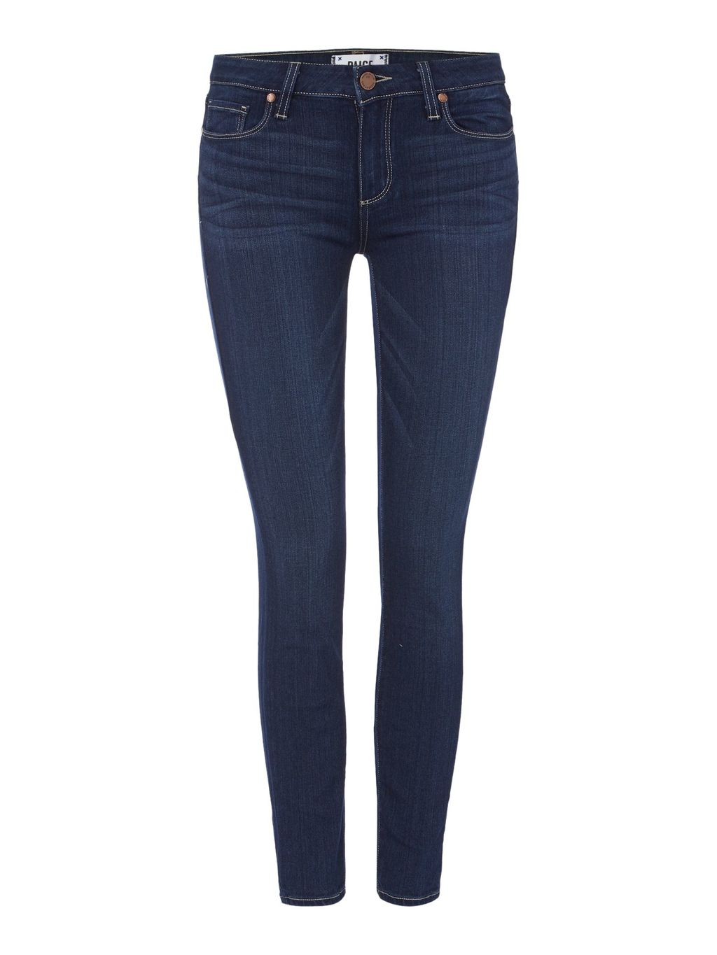 Verdugo Ankle Skinny In Dalia, Denim Dark Wash - style: skinny leg; length: standard; pattern: plain; pocket detail: traditional 5 pocket; waist: mid/regular rise; predominant colour: navy; occasions: casual; fibres: cotton - stretch; texture group: denim; pattern type: fabric; season: s/s 2016; wardrobe: basic
