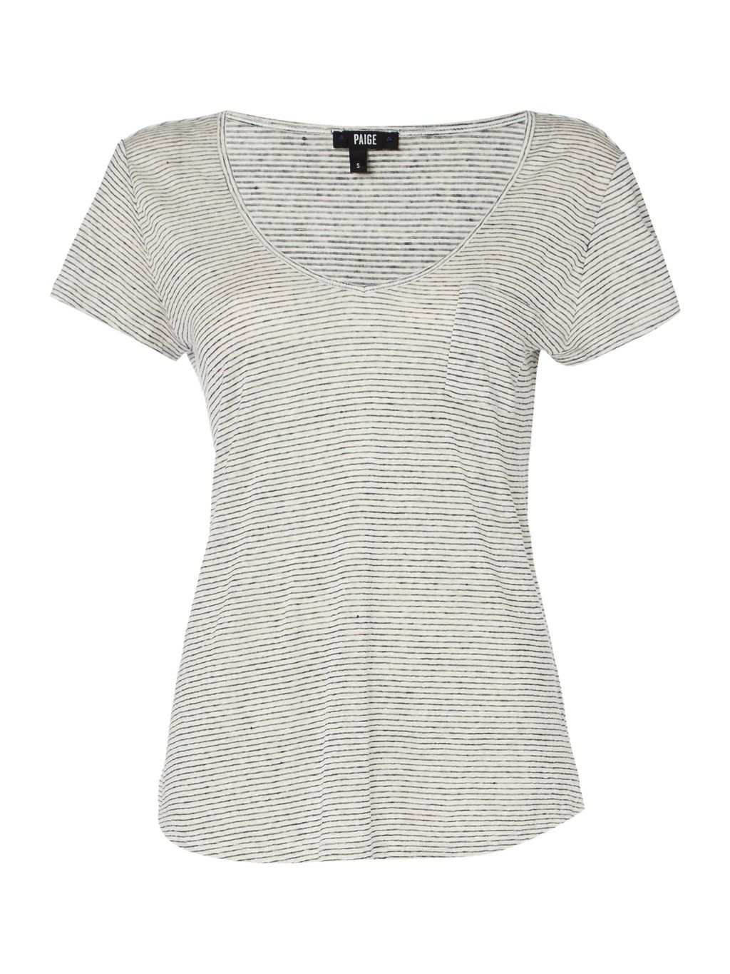 Short Sleeve Lynnea Tee, White - pattern: plain; style: t-shirt; predominant colour: light grey; occasions: casual; length: standard; neckline: scoop; fibres: polyester/polyamide - 100%; fit: body skimming; sleeve length: short sleeve; sleeve style: standard; pattern type: fabric; texture group: other - light to midweight; season: s/s 2016; wardrobe: basic