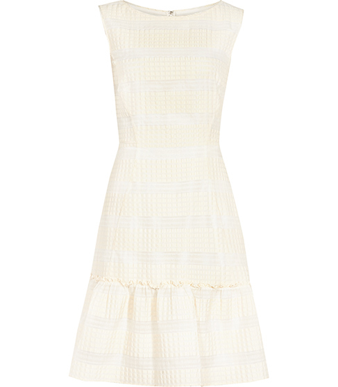 Delia - style: shift; fit: tailored/fitted; pattern: plain; sleeve style: sleeveless; predominant colour: ivory/cream; occasions: evening; length: just above the knee; fibres: polyester/polyamide - mix; neckline: crew; hip detail: adds bulk at the hips; sleeve length: sleeveless; pattern type: fabric; texture group: woven light midweight; season: s/s 2016; wardrobe: event