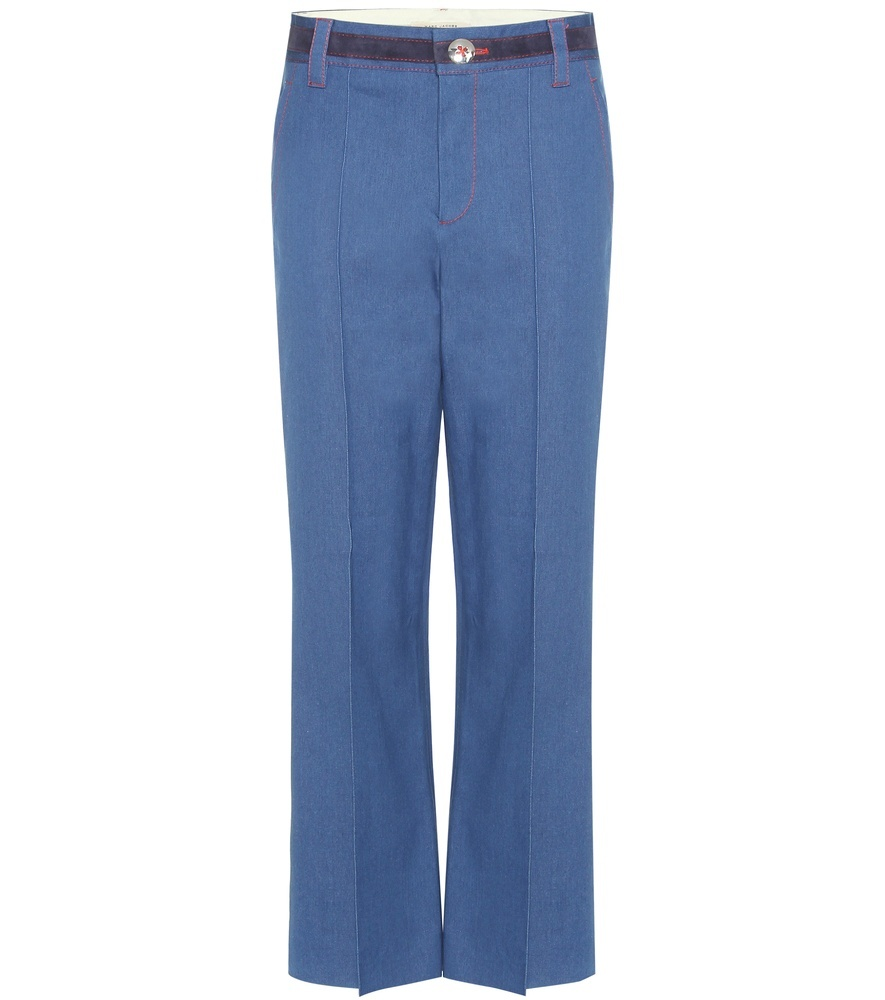 Jeans - length: standard; pattern: plain; waist: mid/regular rise; style: wide leg; predominant colour: denim; occasions: casual; fibres: cotton - stretch; texture group: denim; pattern type: fabric; season: s/s 2016; wardrobe: basic