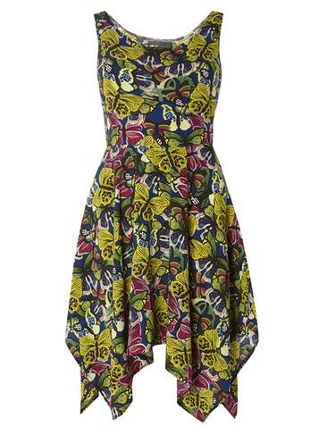 Womens **Mela Multi Butterfly Print Dress Multi Colour - neckline: round neck; sleeve style: sleeveless; style: full skirt; secondary colour: hot pink; predominant colour: mustard; occasions: evening; length: just above the knee; fit: fitted at waist & bust; fibres: polyester/polyamide - 100%; sleeve length: sleeveless; pattern type: fabric; pattern: patterned/print; texture group: other - light to midweight; multicoloured: multicoloured; season: s/s 2016; wardrobe: event