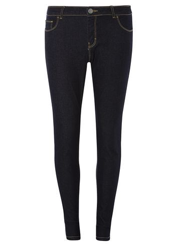 Womens Indigo Skinny Jeans Blue - style: skinny leg; length: standard; pattern: plain; pocket detail: traditional 5 pocket; waist: mid/regular rise; predominant colour: navy; occasions: casual; fibres: cotton - stretch; texture group: denim; pattern type: fabric; season: s/s 2016