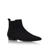 Reine - predominant colour: black; occasions: casual, creative work; material: suede; heel height: flat; heel: standard; toe: round toe; boot length: ankle boot; style: standard; finish: plain; pattern: plain; season: s/s 2016; wardrobe: basic